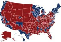 US election map by congressional district
